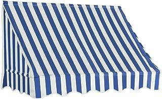 FESTNIGHT 150x120 cm Toldo para Bar/Accesorios Casa Jardín Terraza para Salón, Tienda o Cualquier Otro Establecimiento, Azul y Blanco