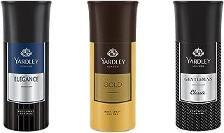 Yardley Men Deo Tripack - Gold+ Elegance+ Gentleman Deo Tri Pack, 150 ml X 3 Deo