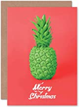 Card Greeting Christmas Xmas Pineapple Green Weird