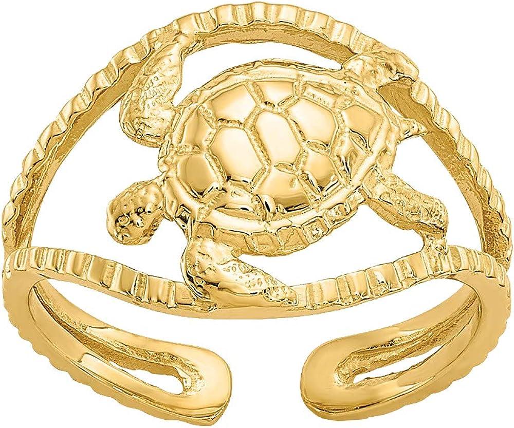 Nina's Jewelry Box 14k Yellow Gold Turtle Toe Ring