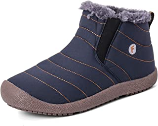 Cooga Women's Waterproof Flat Snow Boots Plus Velvet Winter Cotton Lining Ladies Sneaker Shoes