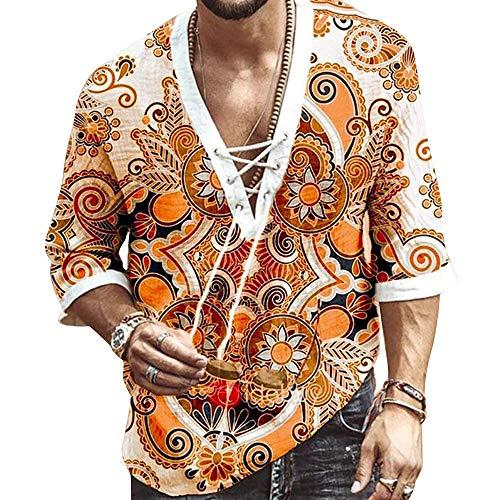 Camiseta de moda superior de yoga con cuello en V para hombre...