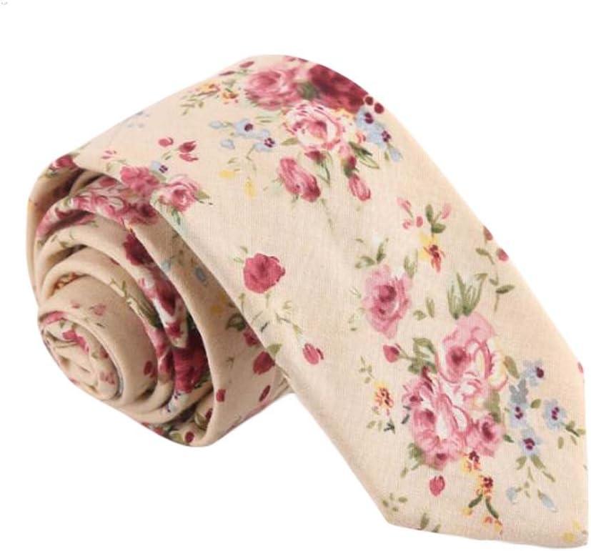 Wukong Direct Formal/Casual Cotton Neckties Pink Flower Fashion Neckties Men Leisure Wear 6 cm