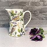 Gisela Graham Keramikvase, Keramikkrug, Motiv: britische Gartenvögel, 15 cm, Geschenk für sie