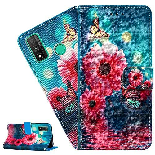 mächtig LEMAXELERS iPhone 11 Pro Hülle, iPhone 11 Pro Hülle Flip Hülle für Handys mit niedlichen rosa Blumen aus PU-Leder…