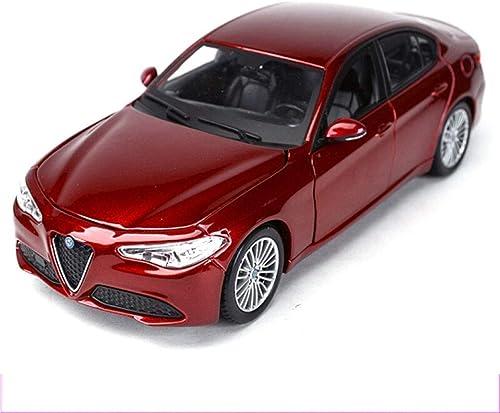 YaPin 1 24 Alfa Romeo Giulia Voiture De Sport Modèle De Voiture en Alliage Modèle De Voiture Collection de Décoration Est Très Convient pour Les Cadeaux des Enfants ( Couleur   Giulia rouge )