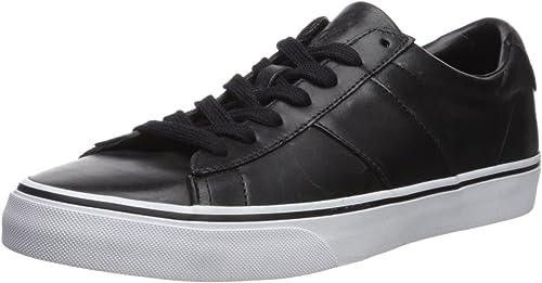 Ralph Lauren Homme Sayer Cuir noir noir noir Chaussures 43.5 EU ad1