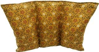 """Cuscino termico noccioli ciliegia """"Fiori marroni"""" - 26 x 16 cm (M / L) - pieno di noccioli di ciliegia 330gr - effetto fre..."""