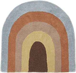 OYOY – matta – regnbåge – 80 % ull – 20 % bomull – H 88 x B90 cm
