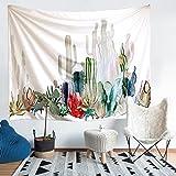 Arfbear Cactus Arazzo, pareti di ceramica giallo e verde acquerello stampato natura tovagl...