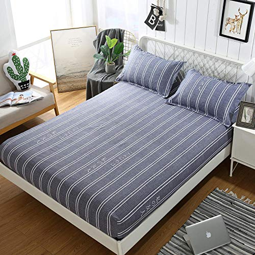 GTWOZNB Extra Deep Fitted Bed Sheet Hotel Quality Fitted Bed Sheets The bed sheet protective cover is dustproof and non-slip-5_180*200cm