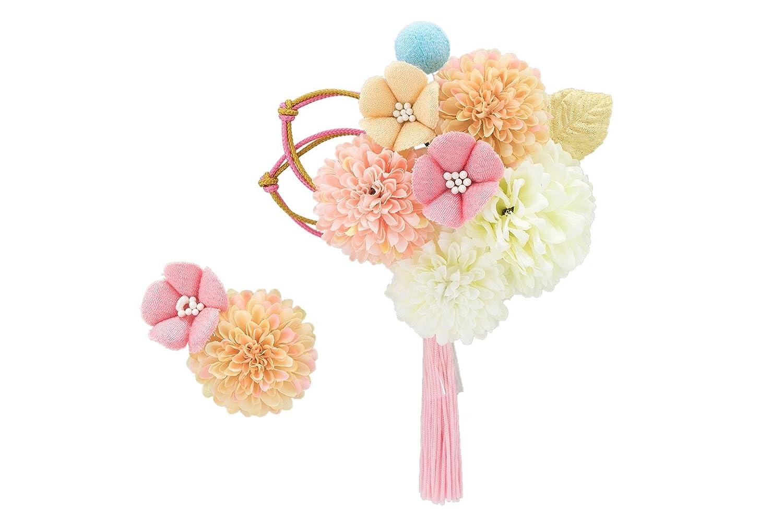 (ソウビエン) 髪飾り 2点セット 桜 ピンポンマム 菊 組紐 房飾り 成人式 振袖向き 卒業式