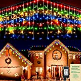 8 Modes Iciclelights: The Iciclelights have 8 different light patterns: Combination, In Waves, Sequential, Slo-glo, Chasing/Flash, Slow Fade, Twinkle/Flash, and Steady On. Different lighting effects are controlled by only one button. Tips: Multicolor...