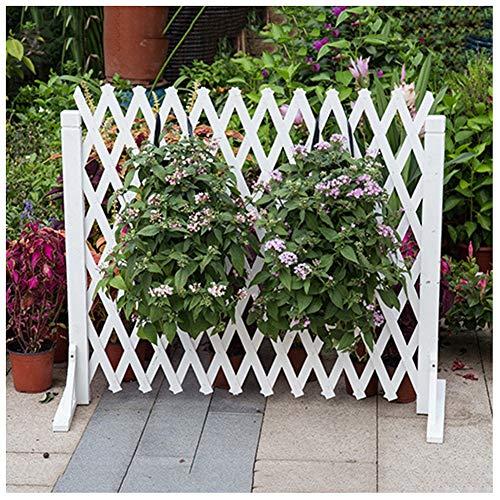 ZENGAI Steccato Giardino Legno Recinzione In Legno In Espansione Schermata Privacy Recinzione Istantanea Estensibile Decorativo Bianca Spessore 0,9 Cm (Size : 160X80Cm)