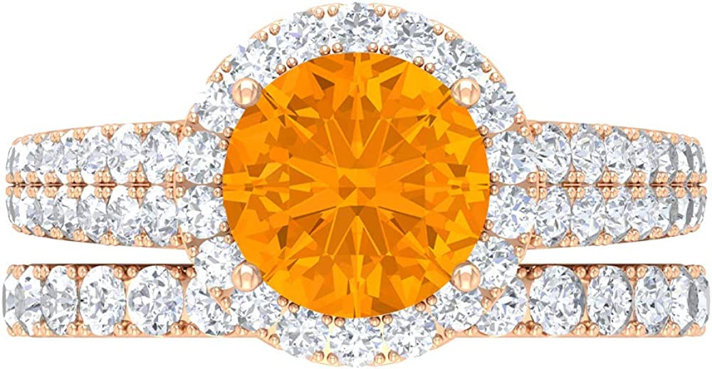 8 MM Lab Max All items free shipping 46% OFF Created Orange Moissanite Eternit D-VSSI Sapphire Ring