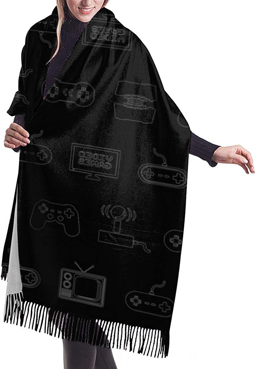 Cashmere Feel Wrap Shawl Stole for Women Winter Extra Large Men Pashmina Scarf(Cartoon Rabbit And Chicken)