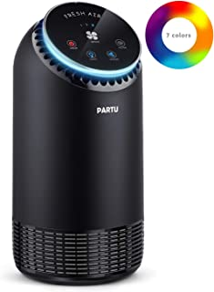 PARTU Purificateur d'air avec Réel Filtre HEPA 99.97% Filtration, Ultra Silencieux..
