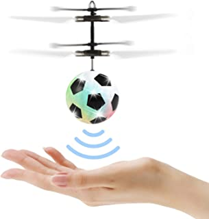 Flying Ball Toys for Kids, Mini Infrared Induction Flying Helicopter Drone with Flashing LED Lights Ball Drone with Remote Controller Games Indoor Outdoor for Boys Girls Kids Teenagers