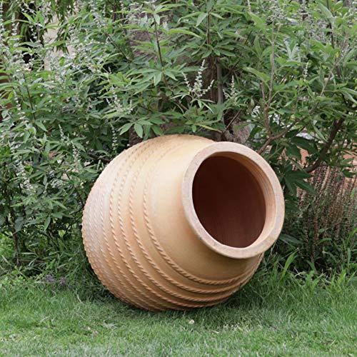 Creta ceramica | Grande amphore a punta resistente al gelo in terracotta | Amore per piante appoggiato | 80 cm | Giardino balcone laghetto Vitex