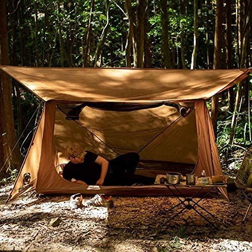 N/Z Tienda de Equipo de Camping Tienda de campaña de 3 Estaciones Refugio Ultraligero Tienda de Estilo Panadero para supervivientes de Bushcrafters Camping Senderismo