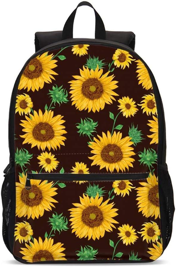 Manufacturer regenerated product Kids Sunflower Vintage Backpacks School Bookbag Bag Cas Shoulder Large discharge sale