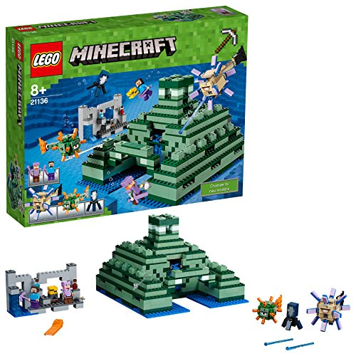 """Lego Minecraft 21136 - \""""Das Ozeanmonument Konstruktionsspiel, bunt"""
