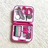 Goodvk Kit de Costura Kit de Costura de Viaje portátil Tijera Thimble Hilos de Aguja Set Botones Botones Pines Cajas de Almacenamiento Caja de Coser Herramienta Práctico y Portátil