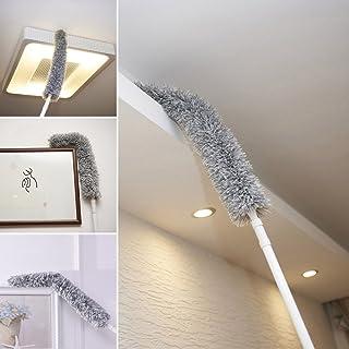 Houseables - Plumero de plumas con mango telescópico flexible - Alcance: 127 a 178 cm - Mango largo para techos y ventiladores de techo - Uso en seco o húmedo