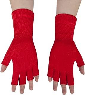 Gravity Threads Unisex Warm Half Finger Stretchy Knit Gloves