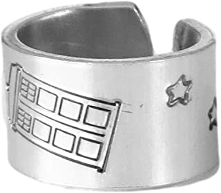 Tardis Ring Doctor Who Inspired Adjustable Aluminum Ring