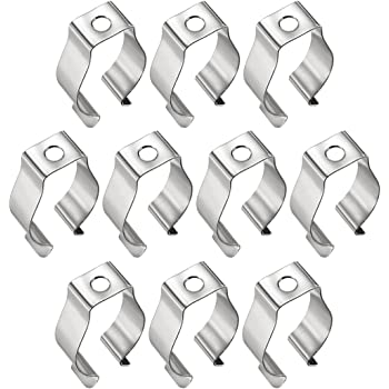 15 Pcs T8 LED Light Bulbs U Clips Holder Fluorescent Tube Lamp Bracket