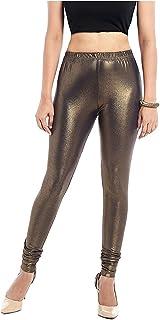 d59ab0d1dc4d8 BEST DEAL Women's Viscose and Shimmer Leggings (LGA23519, Golden Black,  XX-Large