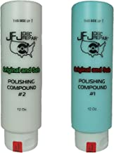 Original JFJ Polish Compound Combo Pack 12oz Blue #1 & White #2 (JFJ Easy Pro, Plus, Single, Double and Armless Compatible)