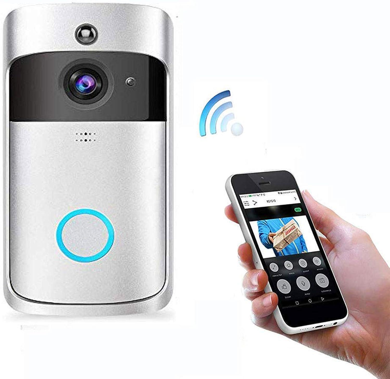 FDURU WiFi Smart Doorhall Video Wireless con  me 720P HD 166 Wide Angle Door View Security Camera 2Way