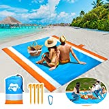 OZMI Beach Blanket Sandproof, Oversized Beach Mat Sand Free Waterproof, Large Outdoor Waterproof Beach Picnic Blanket for 5-8 Adults, Foldable Lightweight for Travel, Camping, Hiking (83' X 78')