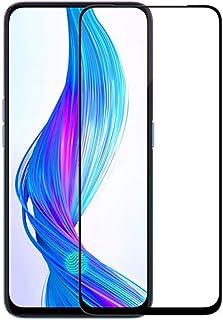 شاشة حماية من الزجاج المقوى 9D مقطوع بالليزر، غراء كامل، درجة صلابة 9، سهل التركيب مقاوم للخدش لموبايل ريلمي اكس - اسود