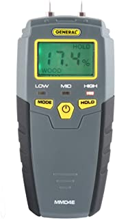 General Tools MMD4E Digital Moisture Meter, Water Leak Detector, Moisture Tester, Pin..
