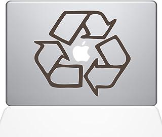 "The Decal Guru Go Green Recycle MacBook Decal Vinyl Sticker  - 15"" Macbook Pro (2016 & newer) - Brown (1068-MAC-15X-BRO)"