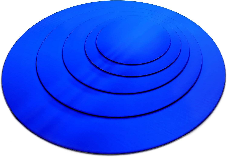 本物 当店は最高な サービスを提供します SPEEDYORDERS Round Blue Acrylic Mirror Circle 12 Sheet in
