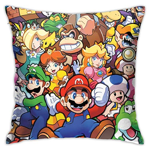 BLACKbiubiubiu The Legend of Zelda Superhero Super Mario Smash Bros, fundas de almohada decorativas de 45 x 45 cm