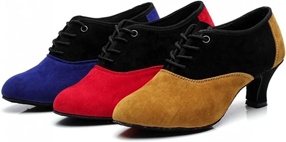 YFF Cadeaux femmes Dance danse danse latine Dance Tango chaussures 5.5CM,rouge,35