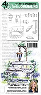 Art Impressions Bible Journaling Watercolor Rubber Stamps-Light to My Path