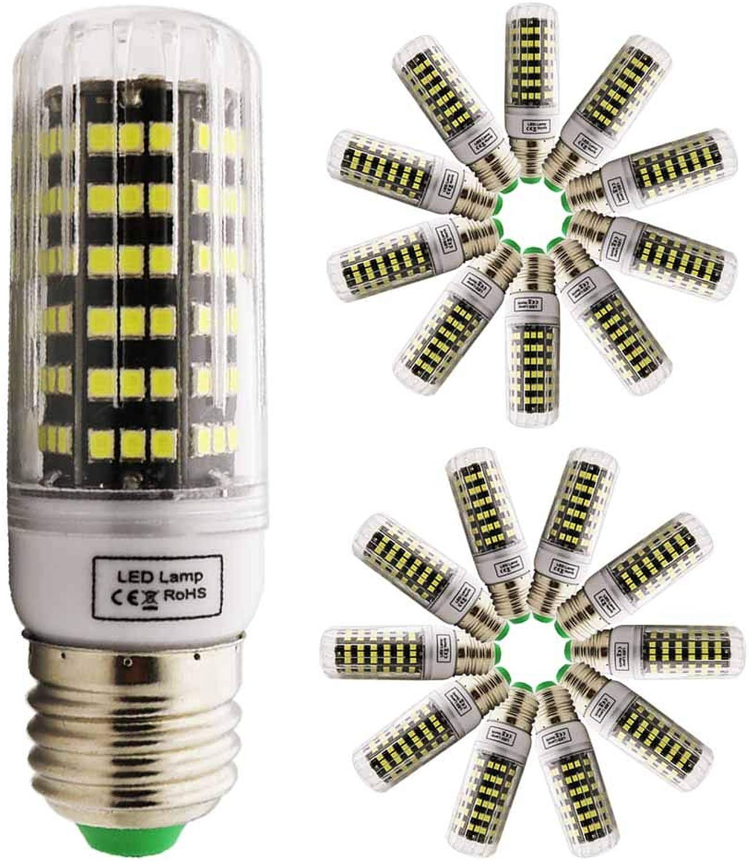 Xindaxin LED Mais Glühbirnen,9W LED Kerzenleuchter Glühbirnen 90 Watt quivalent,900lm,AC 220V,Nicht Dimmbare,360 ° Abstrahlwinkel,Kaltes Wei 6000k(20er Pack)