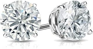 14k Gold Round Lab Grown Diamond Stud Earrings (1/3cttw, G-H, VS1-VS2) 4-Prong Basket, Screw-backs by Diamond Wish