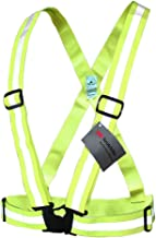 Salzmann 3M Reflective Vest, Made with 3M Scotchlite, High Visibility Cross Belt with Adjustable Straps, for Cycling, Running and Other Outdoor Activities