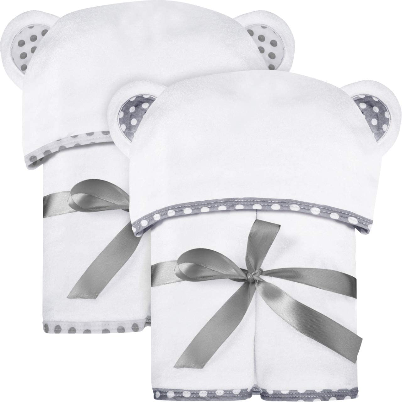 Set of 2 Bamboo Hooded Baby U Japan Maker New Over item handling ☆ and Luxurious Towels – Large