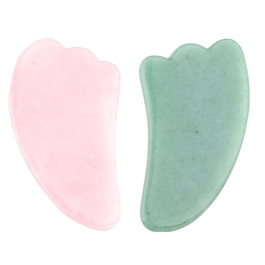 クールそしてコア2点セット2pcsFace/Body Massage rose quartz/Adventurine Natual Gua Sha wing shape 羽型/翼形状かっさプレート 天然石ローズクォーツ 翡翠,顔?ボディのリンパマッサージ