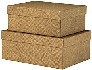 Rössler S.O.H.O. 1349452600 Special Line Lot de 2 cartons rectangulaires Noisette