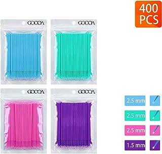 400 PCS Multipurpose Dental Swabs Disposable Micro Applicator Brush Bendable Makeup Brush 1.2/1.5/2.0/2.5 mm