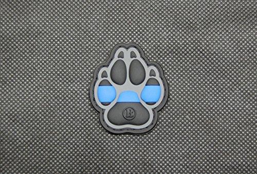 BritKitUSA K9 Thin Blue Line 3D PVC Morale Patch Police Canine Dog Handler